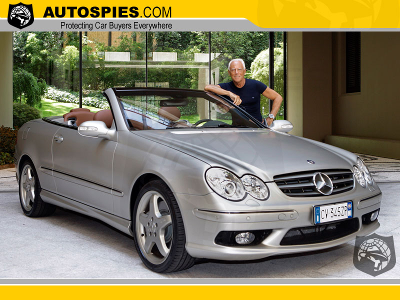 "The ""Mercedes-Benz CLK designo by Giorgio Armani"" is an enticing blend of refinement and sporty,"