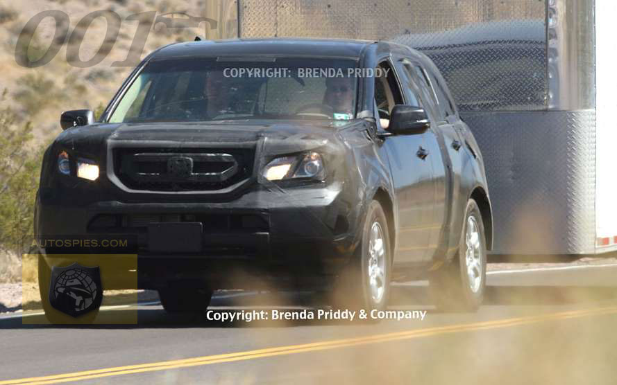 Spies First To Break Photos Of The 2008 Honda Pilot