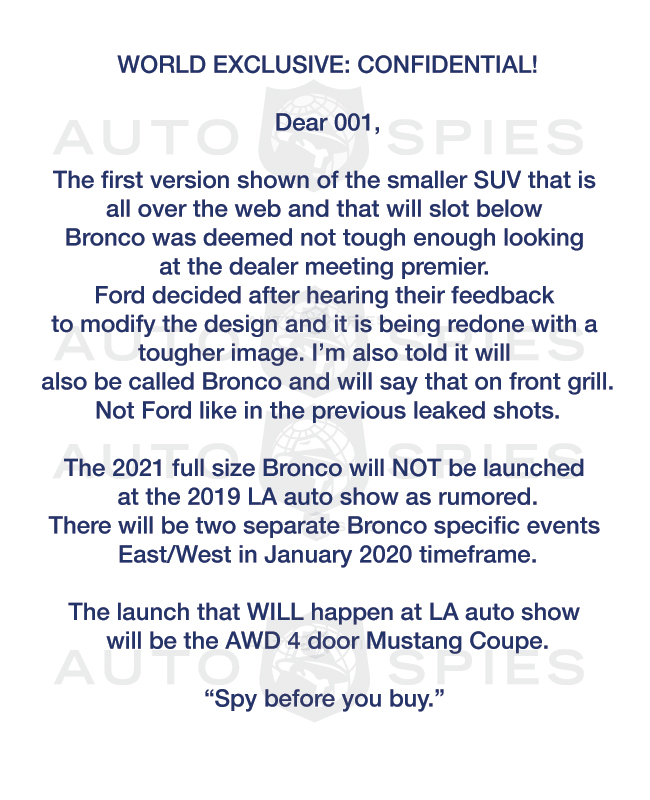 WORLD EXCLUSIVE! Hot Rumors BREAK On 2021 Ford Bronco And Other