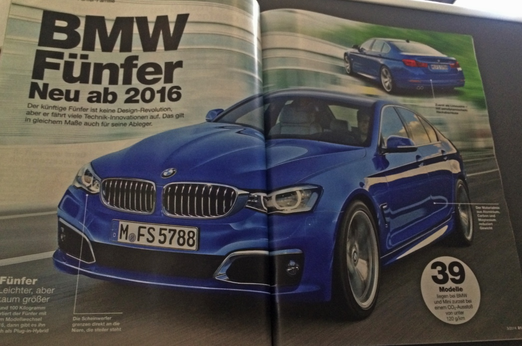 SPIED 2016 BMW 5Series Sedan And Wagon Will The New Design