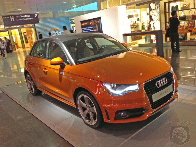 SPIED Audi A In HOT Orange Would You Buy It Over A MINI Or A If - Audi a1 usa
