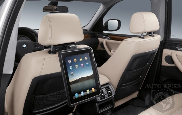 PARIS MOTOR SHOW: BMW Sounds The Death-knell Of Rear DVD Screens With First OEM iPad Seat Cradles