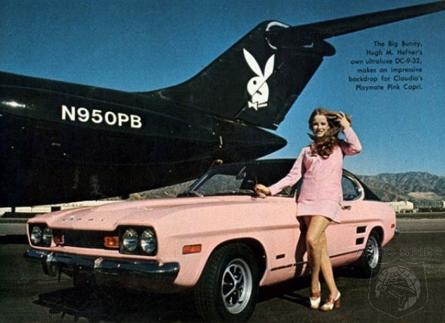Pretty Pink Cars For You And Me! Playboy's Playmates Pose With Some Classic's In Pink!