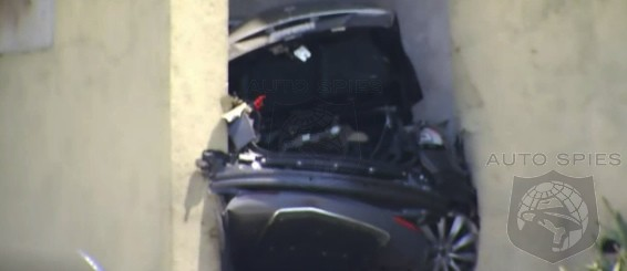 SPIED-Photos and Video Of Stolen Tesla Split In Half After Chase