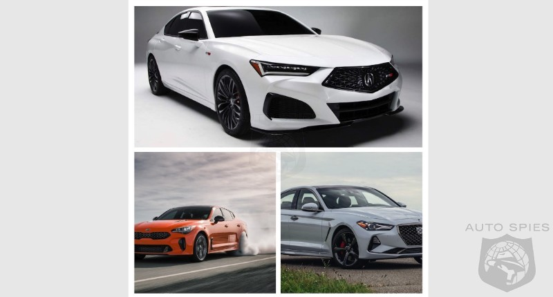 CAR WARS! 2021 Acura TLX, KIA Stinger Or Genesis G70? If You Had To Own ONE, Who Gets 1st, 2nd And 3rd?