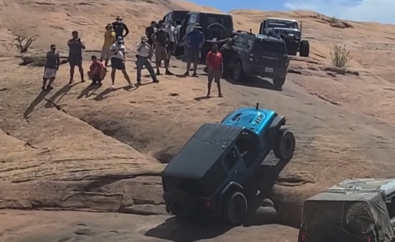 WHAT? STOCK 2021 Ford Bronco SPORT OWNS A LIFTED Wrangler Rubicon JL In Moab Climb? We Have The Video PROOF!