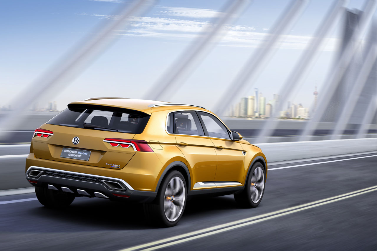 Shanghai auto show volkswagen crossblue coup breaks free of the generic hybrid pack