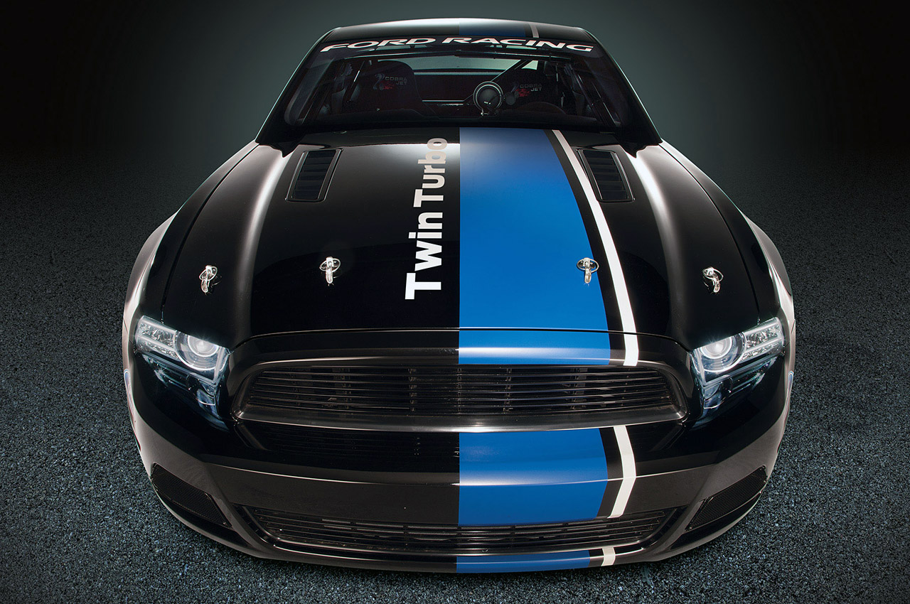 2012 Sema Show Ford Racing Debuts Twin Turbo Mustang Cobra Jet