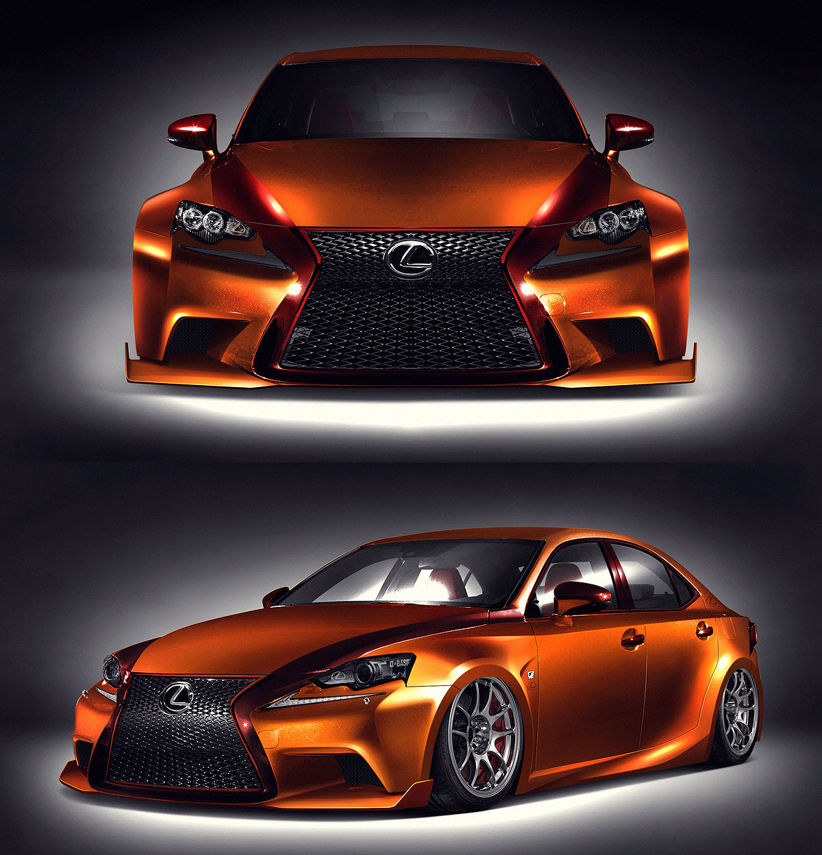 2013 sema show fan created 2014 lexus is 350 to debut along with flurry of custom cars. Black Bedroom Furniture Sets. Home Design Ideas