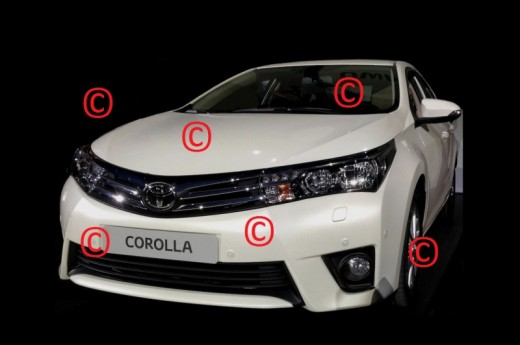 The first two images with the new generation of the Toyota Corolla