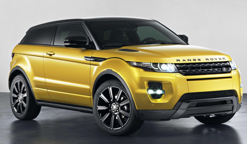 land rover adds sicilian yellow limited edition evoque crossover to line up autospies auto news. Black Bedroom Furniture Sets. Home Design Ideas