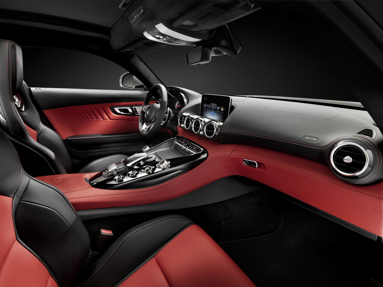 amg teases interior of upcoming gt sports car autospies auto news. Black Bedroom Furniture Sets. Home Design Ideas