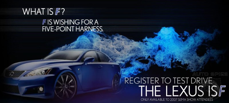 The Line Starts Here!  Lexus Offers IS-F Test Drives At This Years SEMA Show