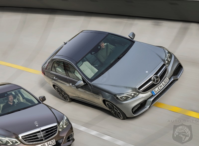 DETROIT AUTO SHOW: Redesigned 2014 Mercedes-Benz E63 AMG Sport Sedan Slips Out