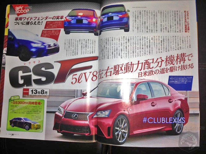 GS-F Surfaces In Japanese Publication - Is Lexus FINALLY Creating A GS That Can Take A Bite Out Of The M5?