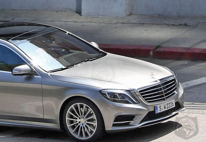 STUD OR DUD? First Undisguised Photos of the 2014 Mercedes S-Class Surface On The Web