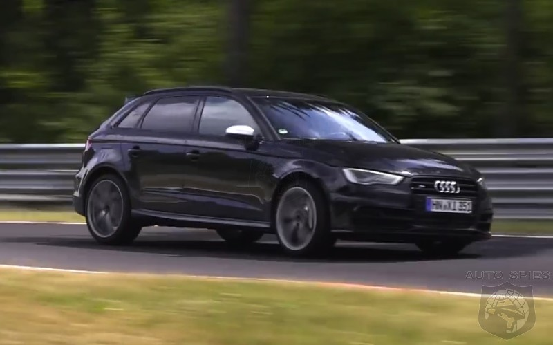 SPIED + VIDEO:  300 HP Audi RS3 Caught Chewing Up Nurburgring Track