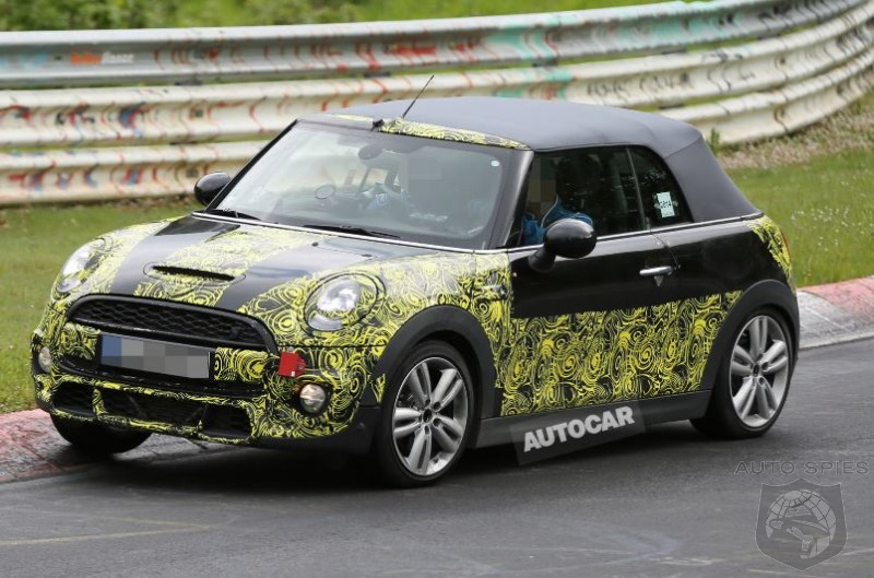 2015 Mini Cooper Convertible Caught Testing At The Nürburgring