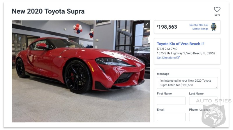 Dealership That Marked Up New Supra To $200K Sells It For Half