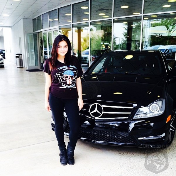 teen tv star ariel winter picks up a new c class as a. Black Bedroom Furniture Sets. Home Design Ideas