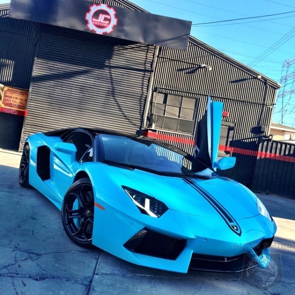 Chris Brown's Lamborghini Aventador Surfaces In Baby Blue- Are There Some Colors They Shouldn't Do?