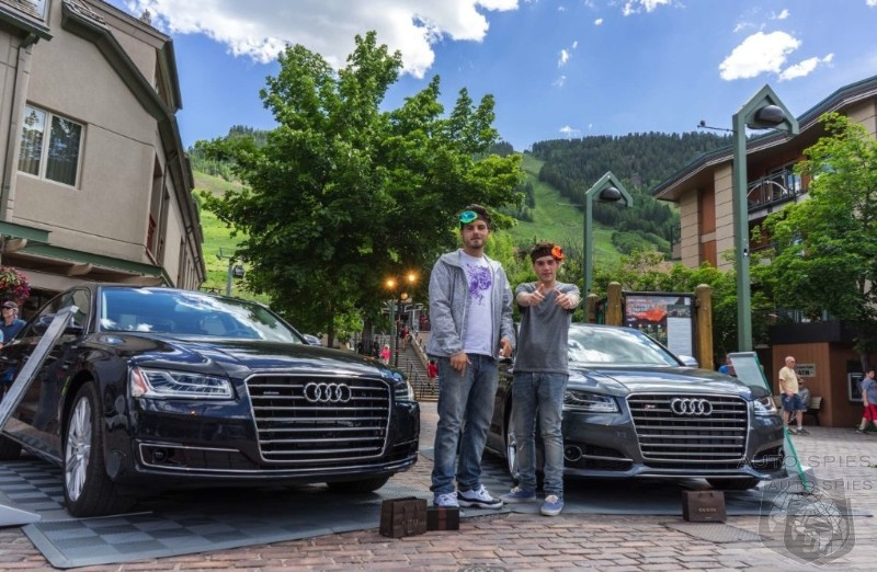 The Ultimate Challenge To The Establishment?  First REAL LIFE Shots Of Audi's 2015 A8 And S8 Flagships