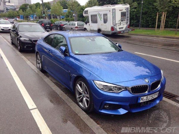 Estoril Blue F32 BMW 4 Series M Sport Uncloaked In Germany