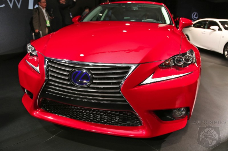 First Real Life Shots Of The All New Lexus IS 'SWOOSH' In From The Show Floor!