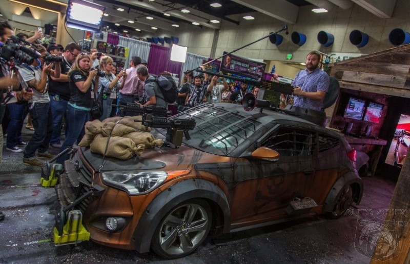 COMIC-CON: First Live Shots Of Hyundai's Wild Veloster Zombie Survival Machine Break Out!