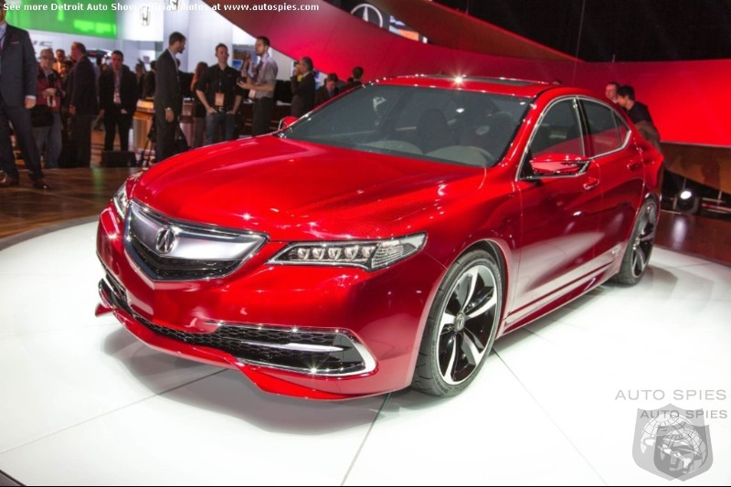 DETROIT AUTO SHOW: Acura To Replace TL And TSX With All New TLX
