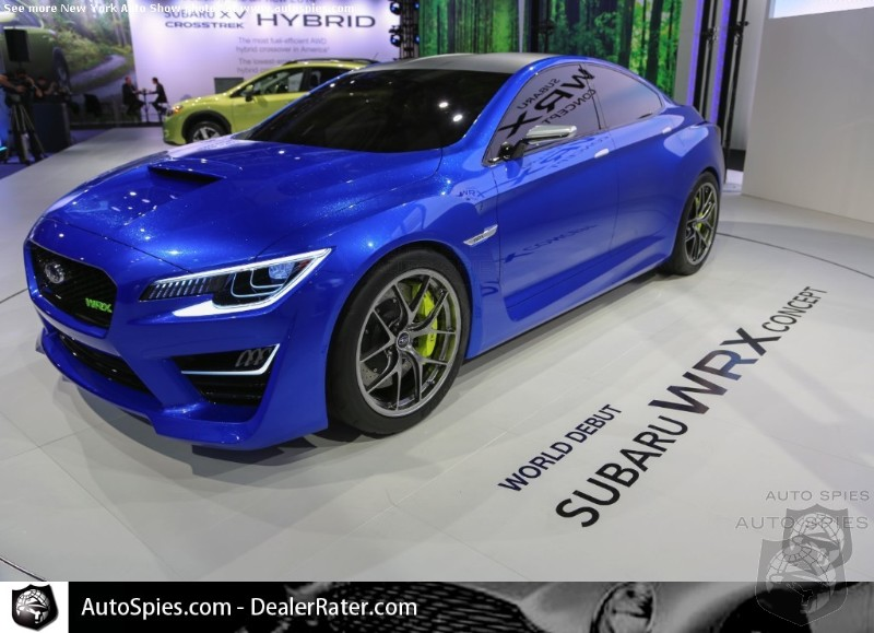 Subaru Says 2016 WRX To Shed Ugly Duckling Looks And Incorporate WRX Concept Style Cues
