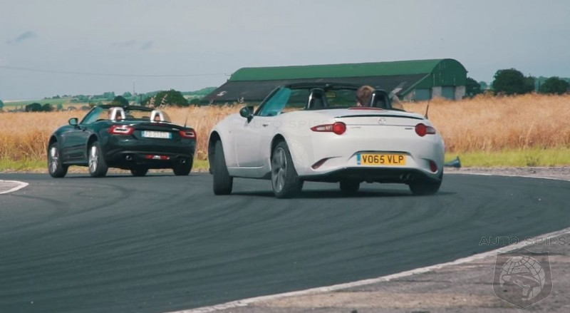 Video Shootout Mazda MX5 Vs Fiat 124 Spider Which Is More Fun To Drive