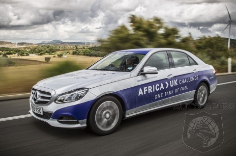 Mercedes Diesel Hybrid Travels 1223 Miles Non-Stop On A Single Tank