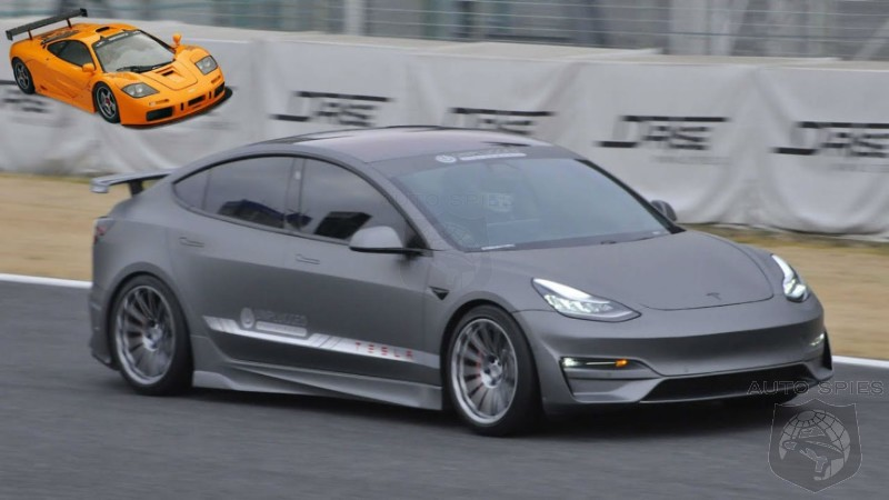 Watch A Modded Model 3 Circle The Tsukuba Circuit As Fast As A 90's McLaren F1 Super Car
