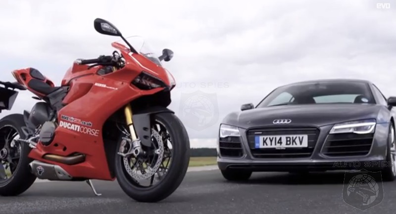 Video Audi R8 V10 Plus V Ducati 1199 Panigale R Which Is Faster