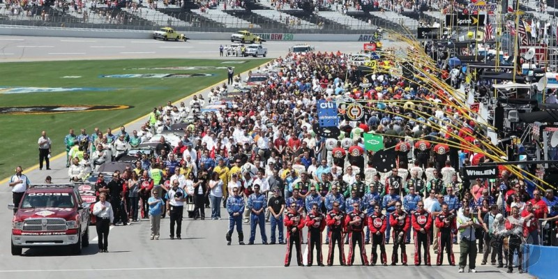NASCAR Teams Stand United Behind The Flag - Take A Knee, Pack Your Bags