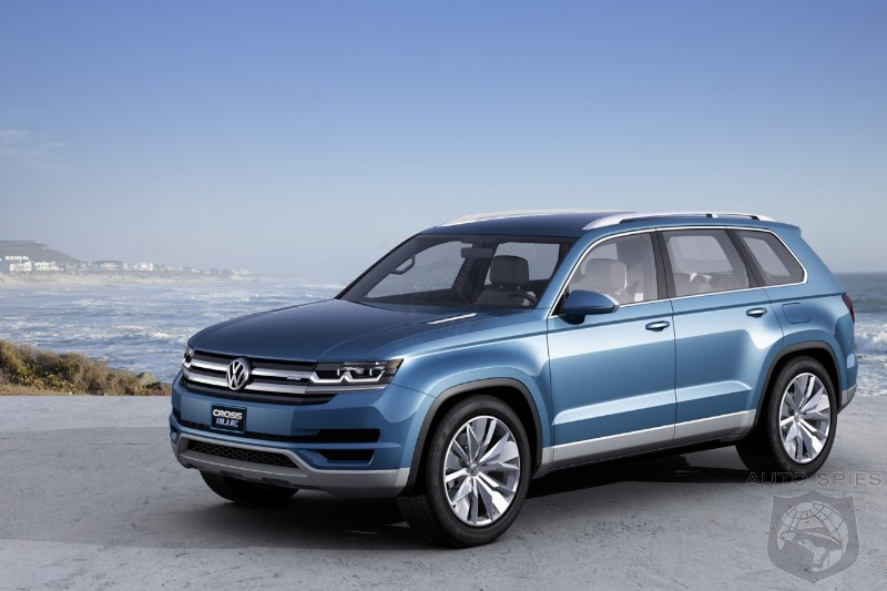 DETROIT AUTO SHOW: Volkswagen To Tackle The Explorer With Diesel Electric 6 Seat CrossBlue Concept