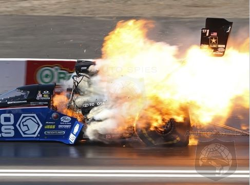 NHRA Top Fuel Champion Antron Brown Survives This 300 MPH Crash At Season Opener
