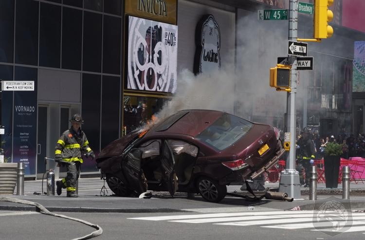 BREAKING: 13 Injured As Speeding Car Rams Through Pedestrians In NYC Times Square