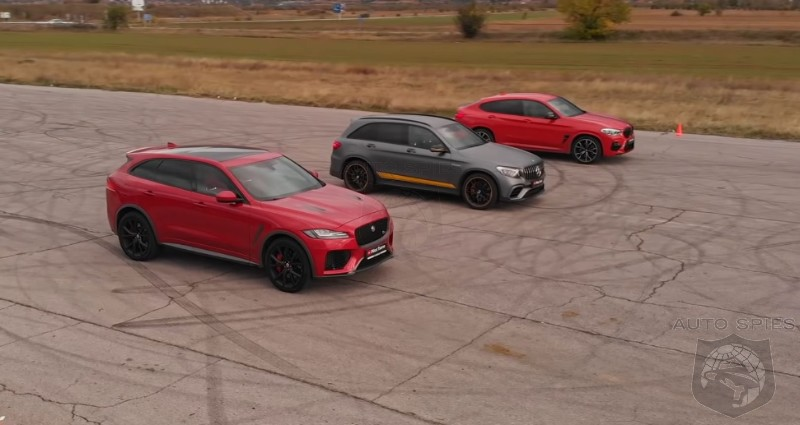WATCH: Compact Performance SUV Shootout: BMW X4 M, Mercedes-AMG GLC 63 And Jaguar F-Pace SVR