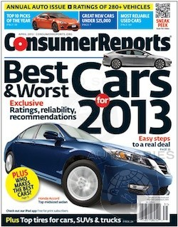 Consumer Reports Addresses Japanese Domination By Creating 2013 American Top Picks