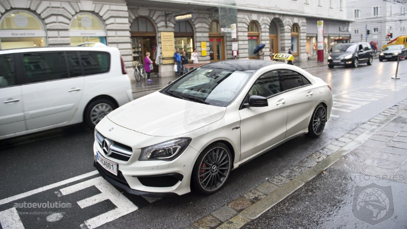 First Mercedes-Benz CLA 45 AMG Taxi Caught In the Wild