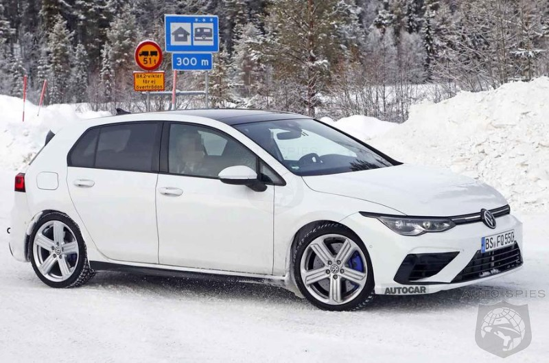 2020 Vokswagen Golf R Caught Frolicking In The Snow