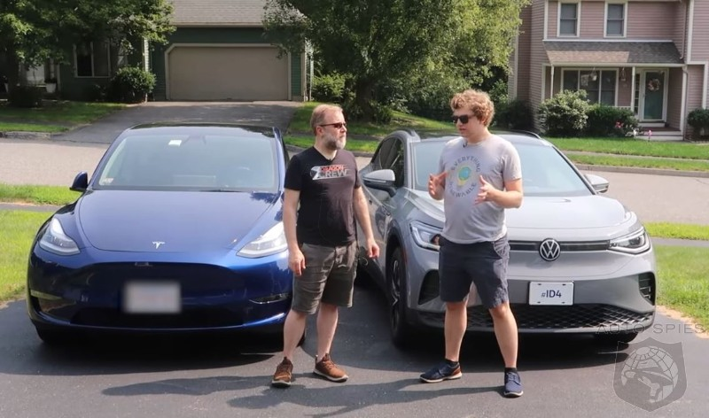 WATCH: How Well Does The Volkswagen ID.4  Stack Up Against The Tesla Model Y?