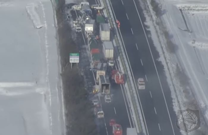 WATCH: Japanese Snowstorm Causes MASSIVE 134 Car Pileup