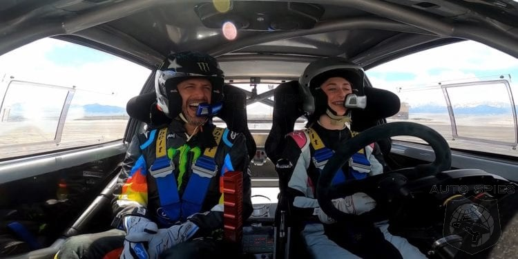 WATCH: Ken Block Teaches His 13 Year Old Daughter How To Do Donuts
