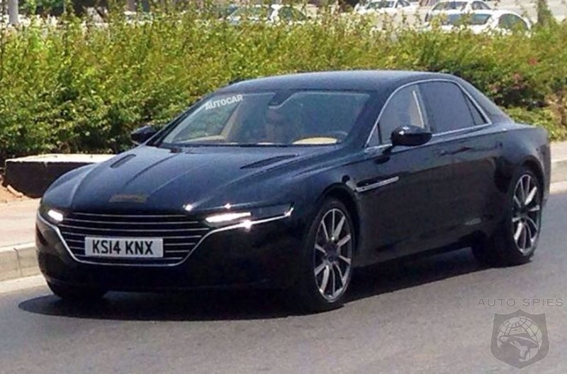 STUD OR DUD?  2015 Aston Martin Lagonda Caught Almost Fully Nude