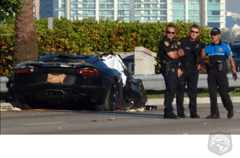 100 MPH Lamborghini Aventador / Suburban Crash Claims One Life In Miami - Shuts Down Highway For Hours