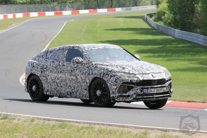 Lambo's 600 Horsepower Urus SUV Caught Testing Flat Out At Nurburgring