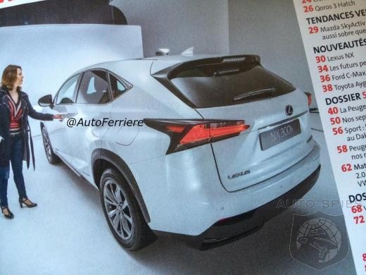 French Magazine Leaks Production Lexus NX Shots Ahead Of Beijing Debut - Who Needs To Worry?
